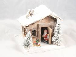 SANTA CLAUS HOUSE WHO EXITS FROM THE DOOR AND FIRE